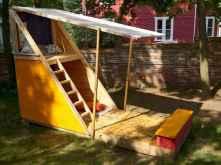 Magically sweet backyard playhouse ideas for kids garden (19)