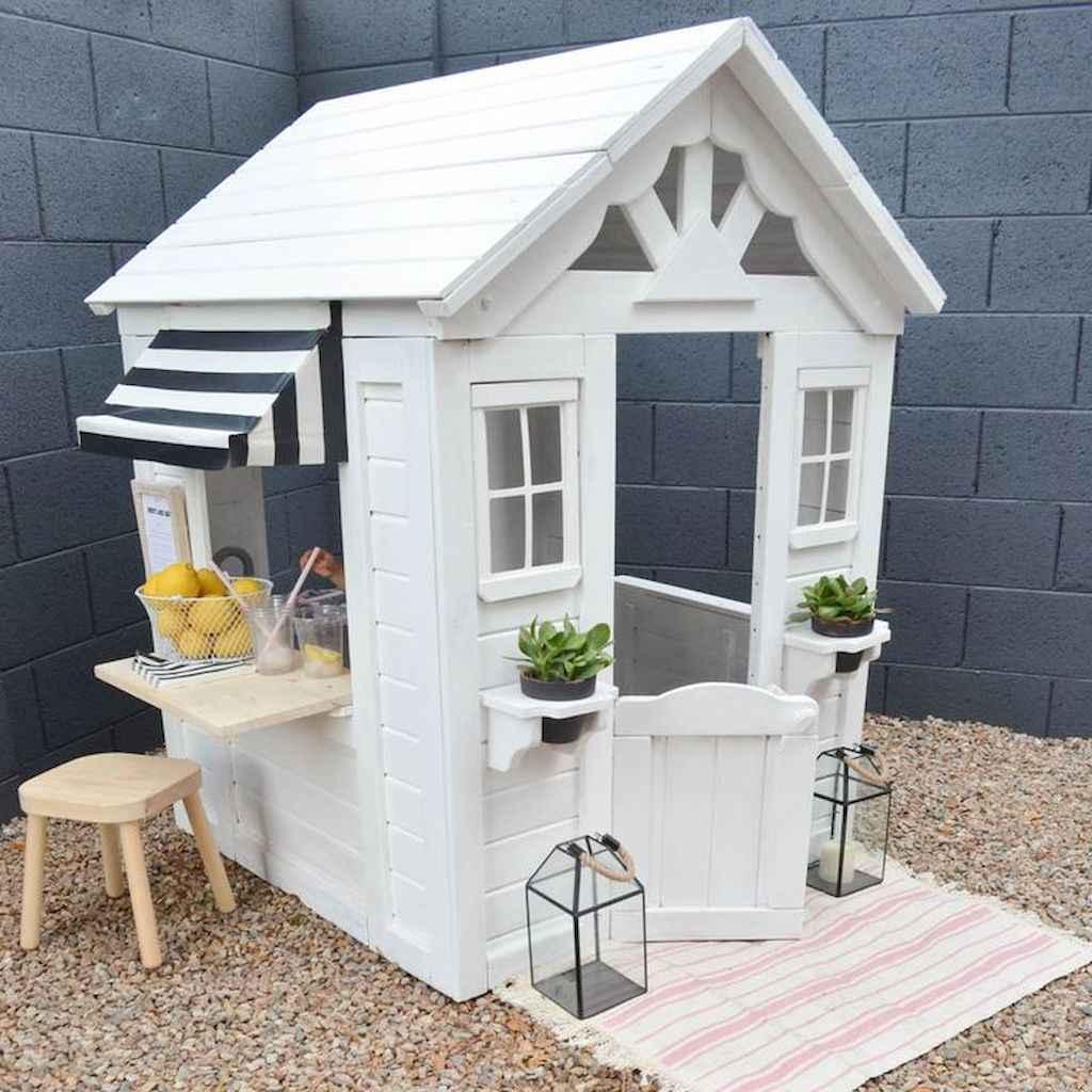 Magically sweet backyard playhouse ideas for kids garden (29)