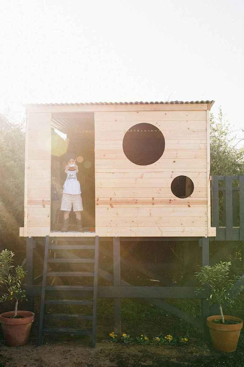 Magically sweet backyard playhouse ideas for kids garden (37)