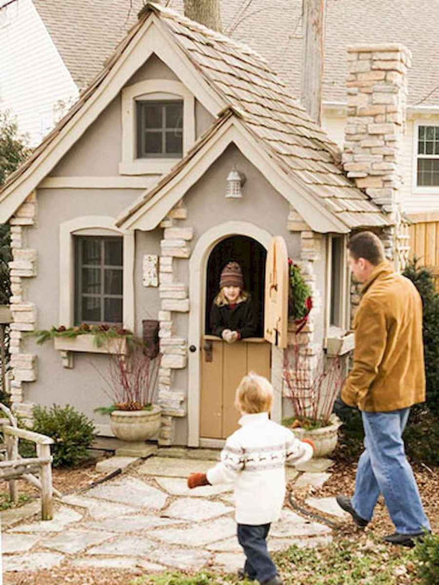 Magically sweet backyard playhouse ideas for kids garden (40)