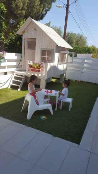 Magically sweet backyard playhouse ideas for kids garden (41)