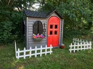 Magically sweet backyard playhouse ideas for kids garden (43)