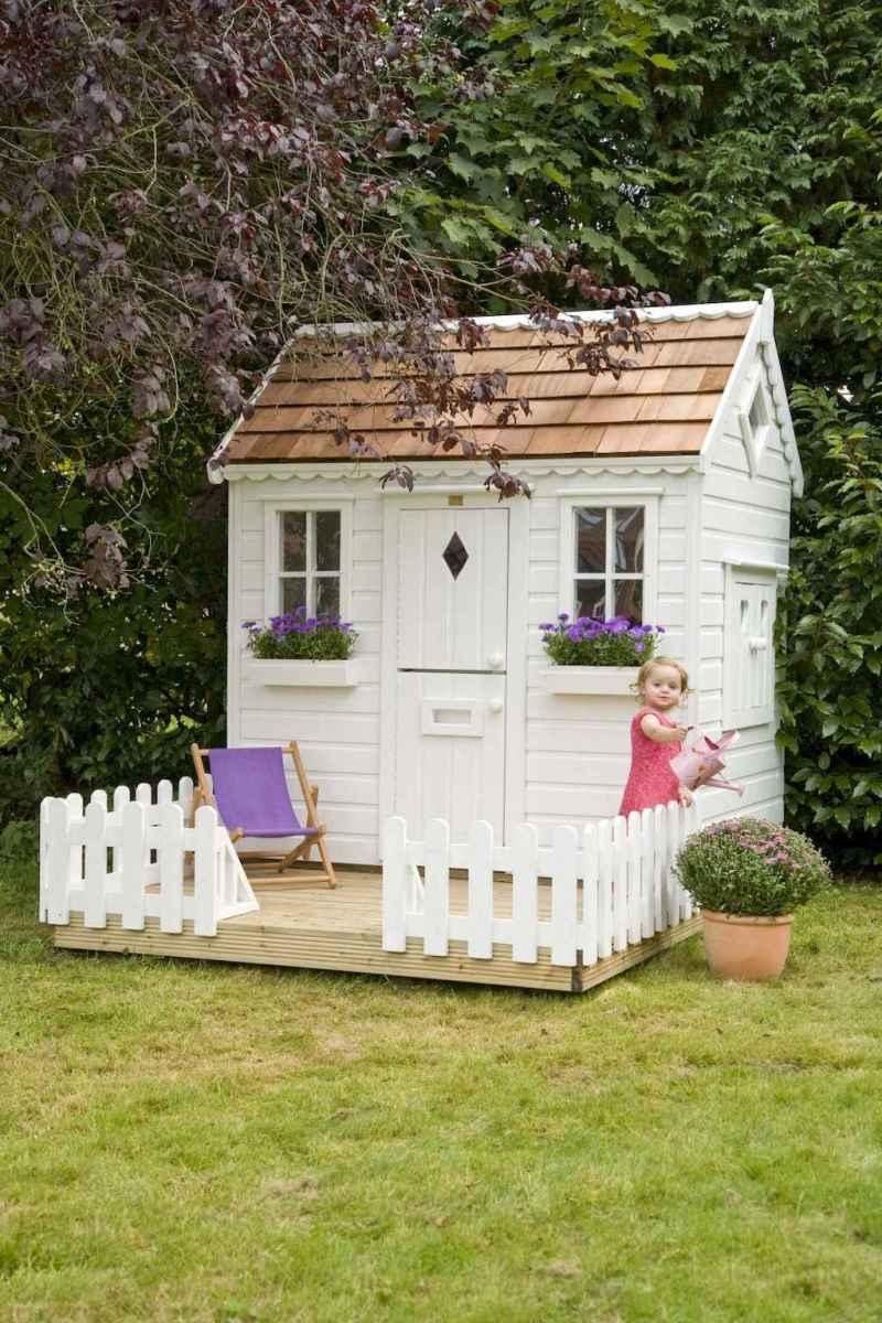 Magically sweet backyard playhouse ideas for kids garden (9)