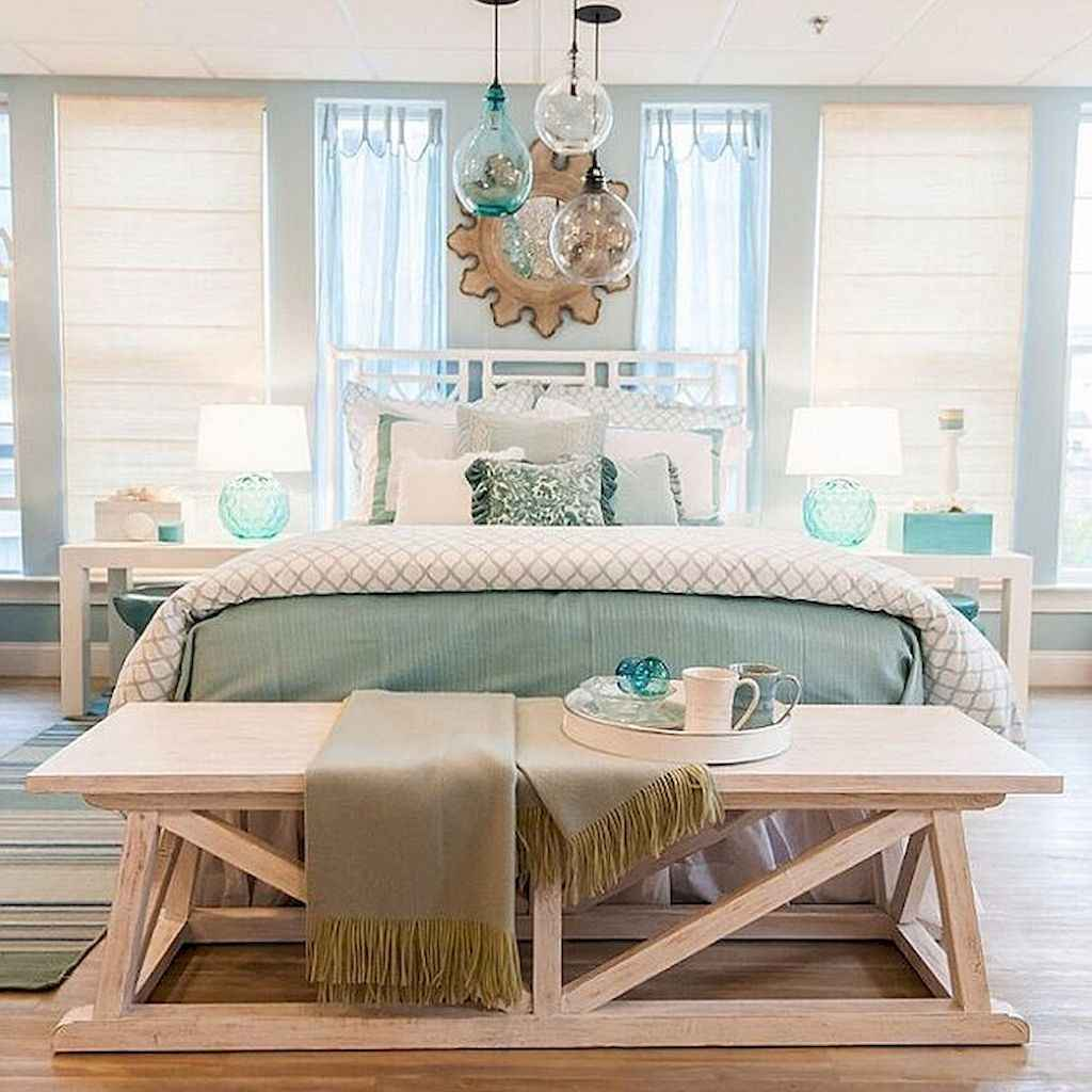 Perfect coastal beach bedroom decoration ideas (30)