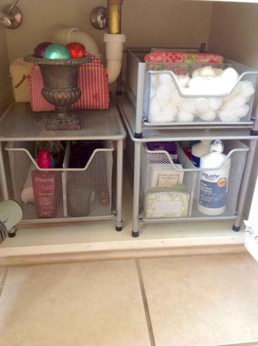 Quick and easy bathroom organization storage ideas (3)