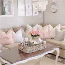 Romantic shabby chic living room decoration ideas (11)