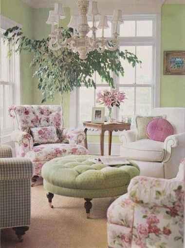 Romantic shabby chic living room decoration ideas (3)