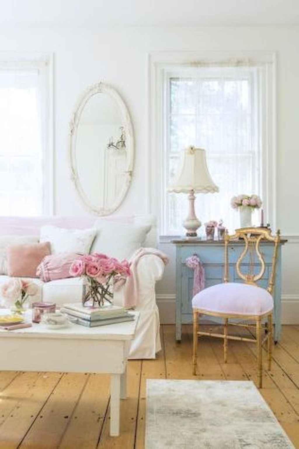 Romantic shabby chic living room decoration ideas (35)