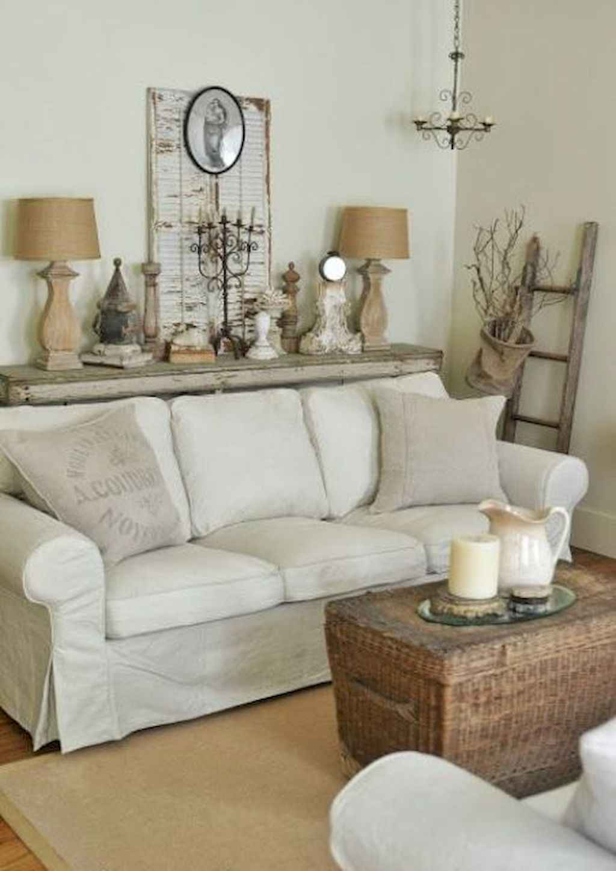 Romantic shabby chic living room decoration ideas (41)