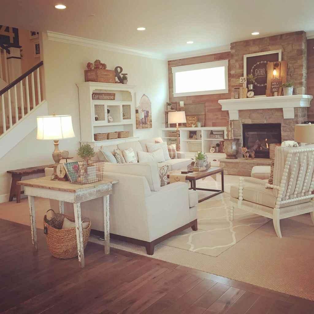 Romantic shabby chic living room decoration ideas (45)