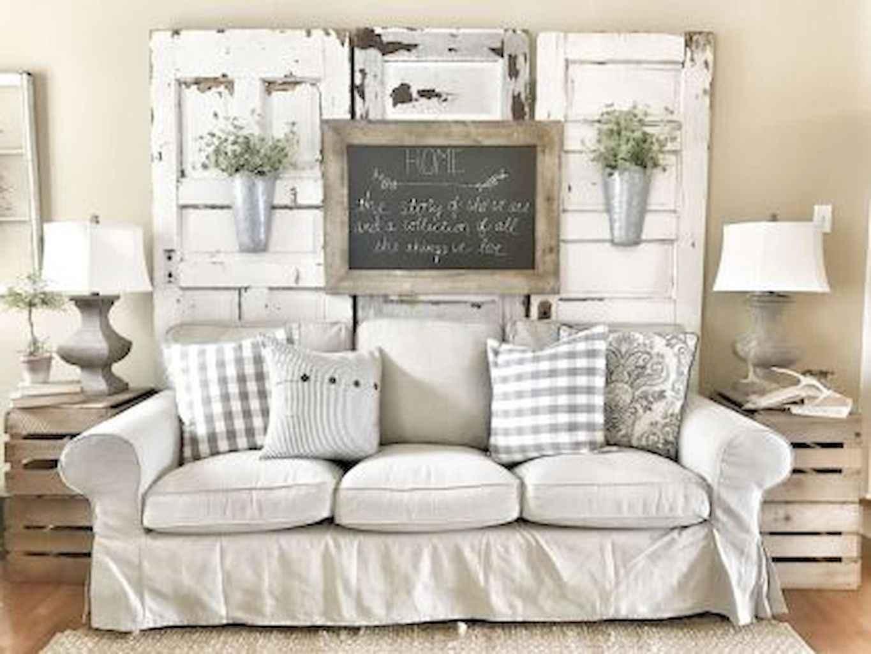 Romantic shabby chic living room decoration ideas (46)