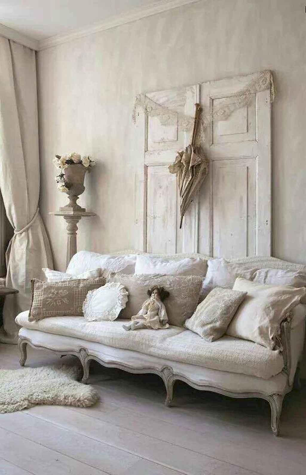 Romantic shabby chic living room decoration ideas (9)