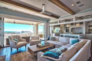 Wonderful coastal living room design & decor ideas (36)