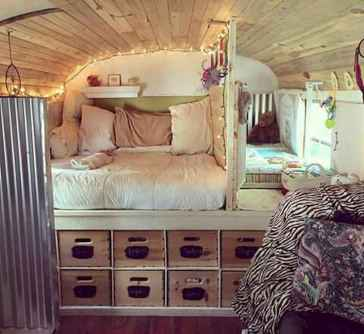 Best rv camper van interior decorating ideas (30)