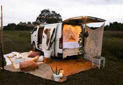Best rv camper van interior decorating ideas (43)