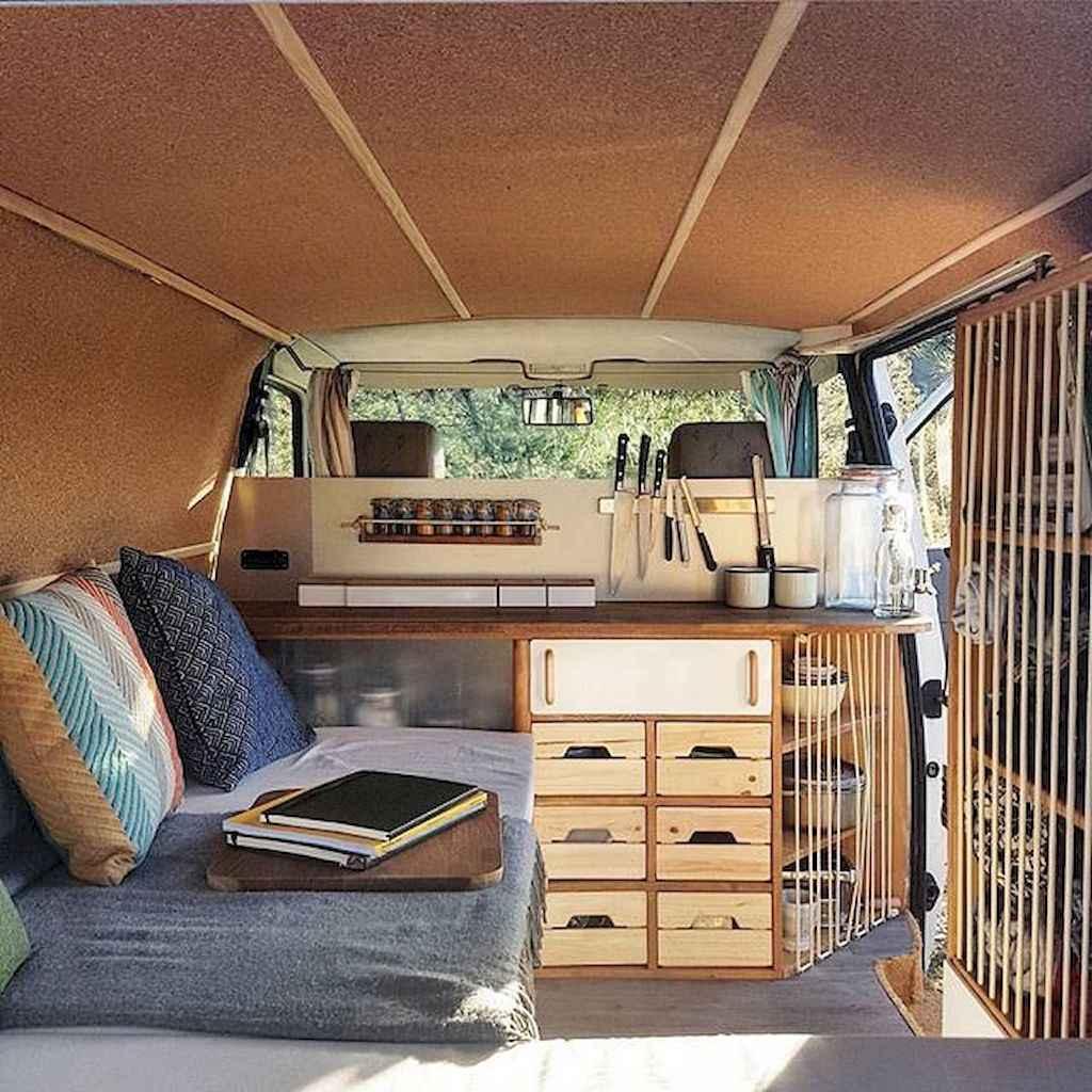 Best rv camper van interior decorating ideas (59)