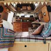 Best rv camper van interior decorating ideas (60)
