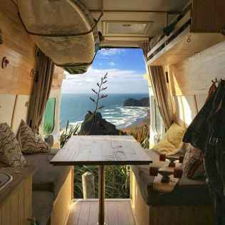 Best rv camper van interior decorating ideas (65)