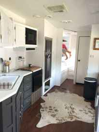 Best travel trailers remodel for rv living ideas (65)
