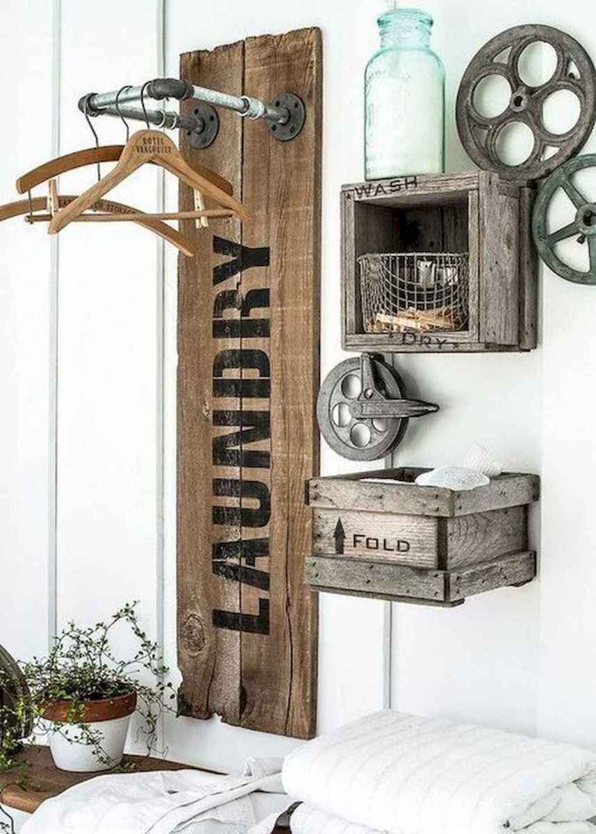 Farmhouse style laundry room makeover ideas (26)