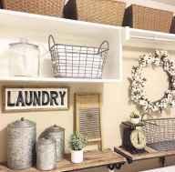 Farmhouse style laundry room makeover ideas (34)