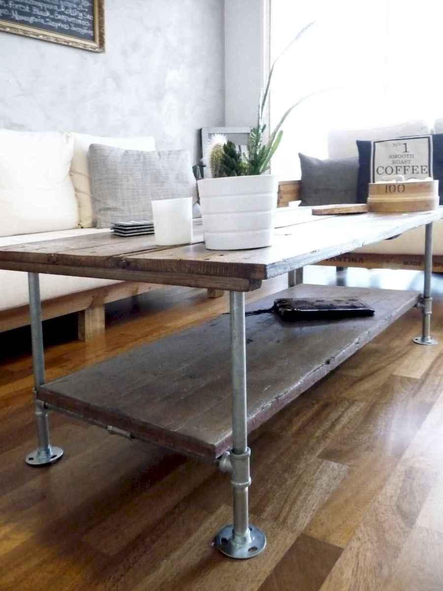 Rustic farmhouse coffee table ideas (19)