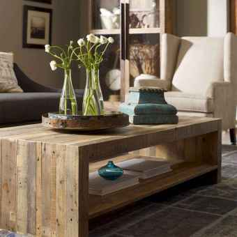 Rustic farmhouse coffee table ideas (78)