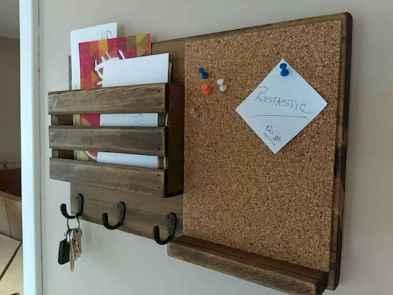 Rustic key holder organized ideas (11)