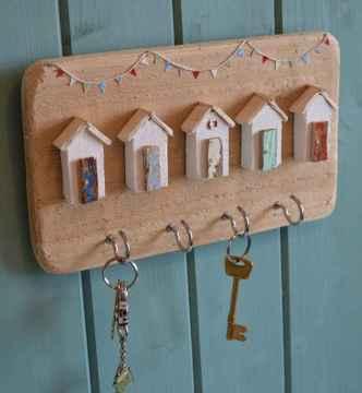 Rustic key holder organized ideas (16)