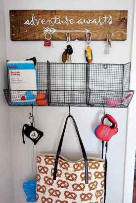 Rustic key holder organized ideas (20)