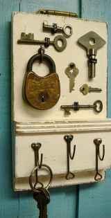Rustic key holder organized ideas (30)