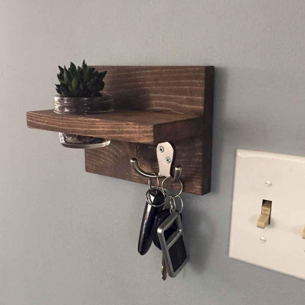 Rustic key holder organized ideas (34)