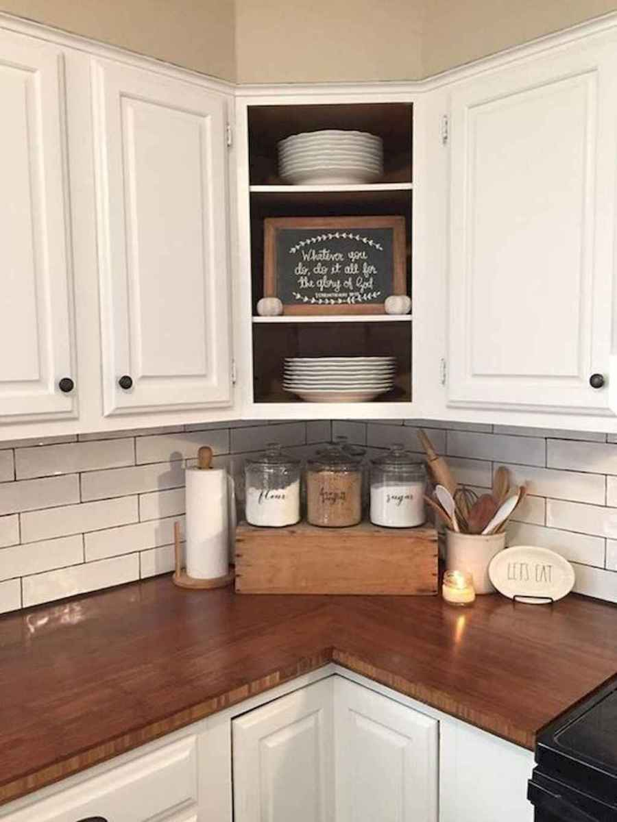 Best rustic farmhouse kitchen cabinet makeover ideas (61 ...