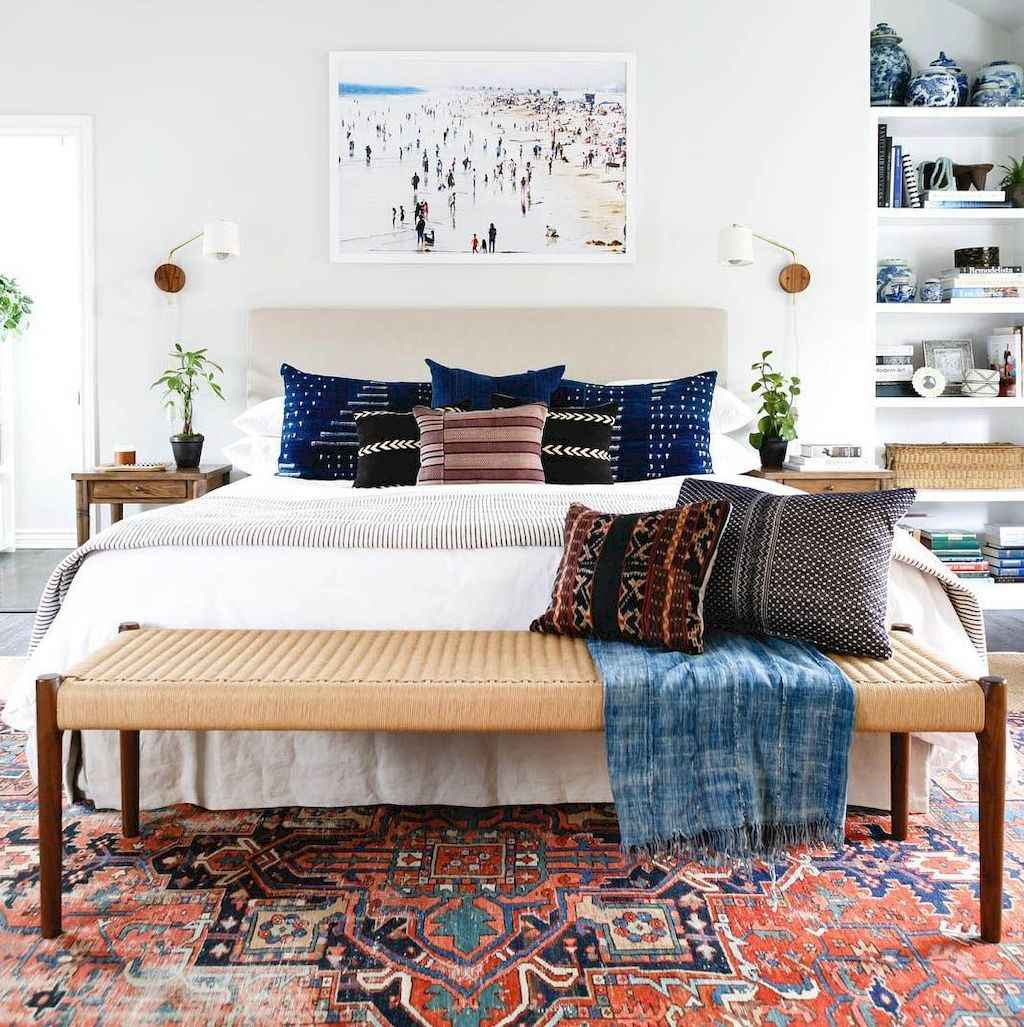 Bohemian style modern bedroom ideas (75)