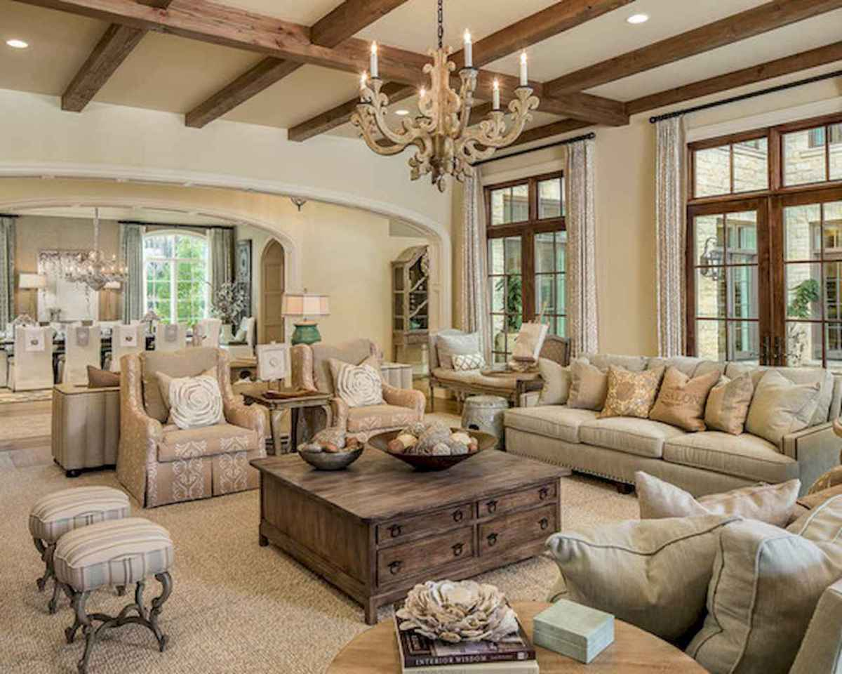 Fancy french country living room decor ideas (48 ...