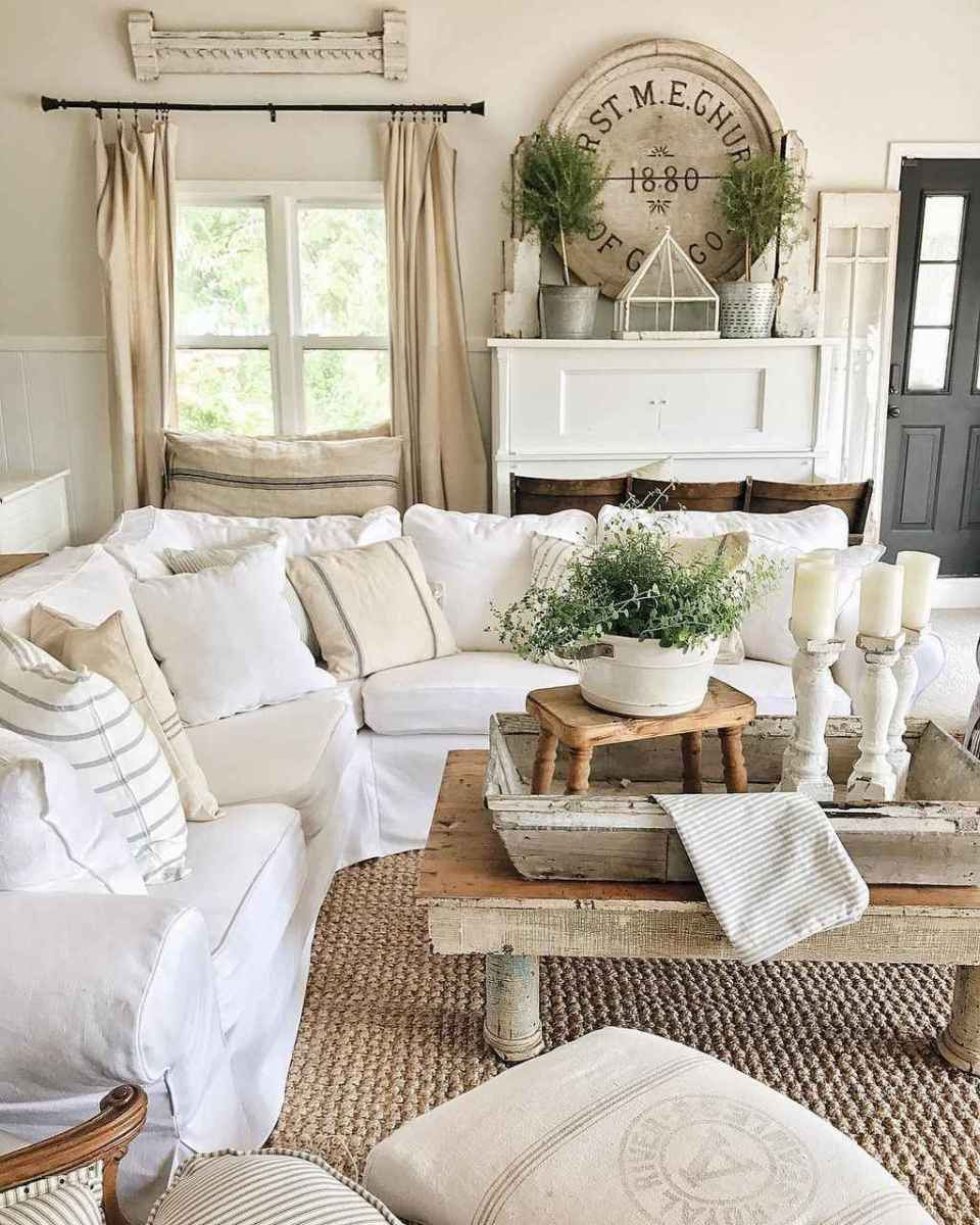 Fancy french country living room decor ideas (66 ...