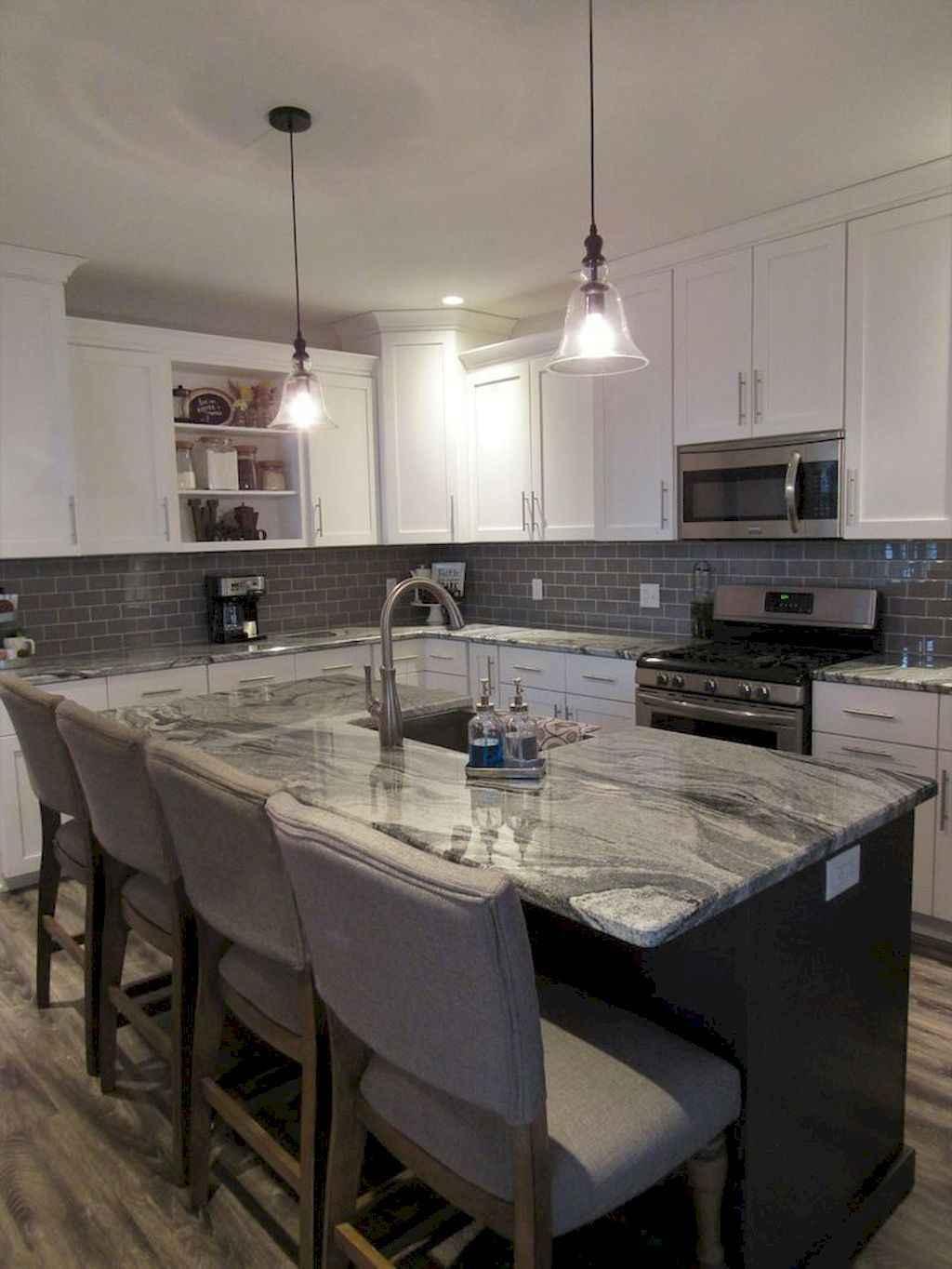 Gorgeous gray kitchen cabinet makeover ideas (14)