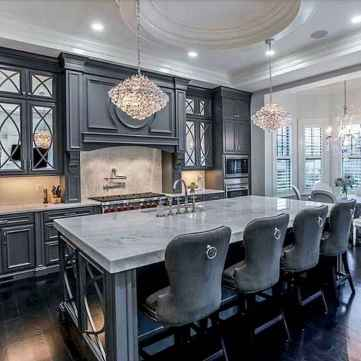 Gorgeous gray kitchen cabinet makeover ideas (15)
