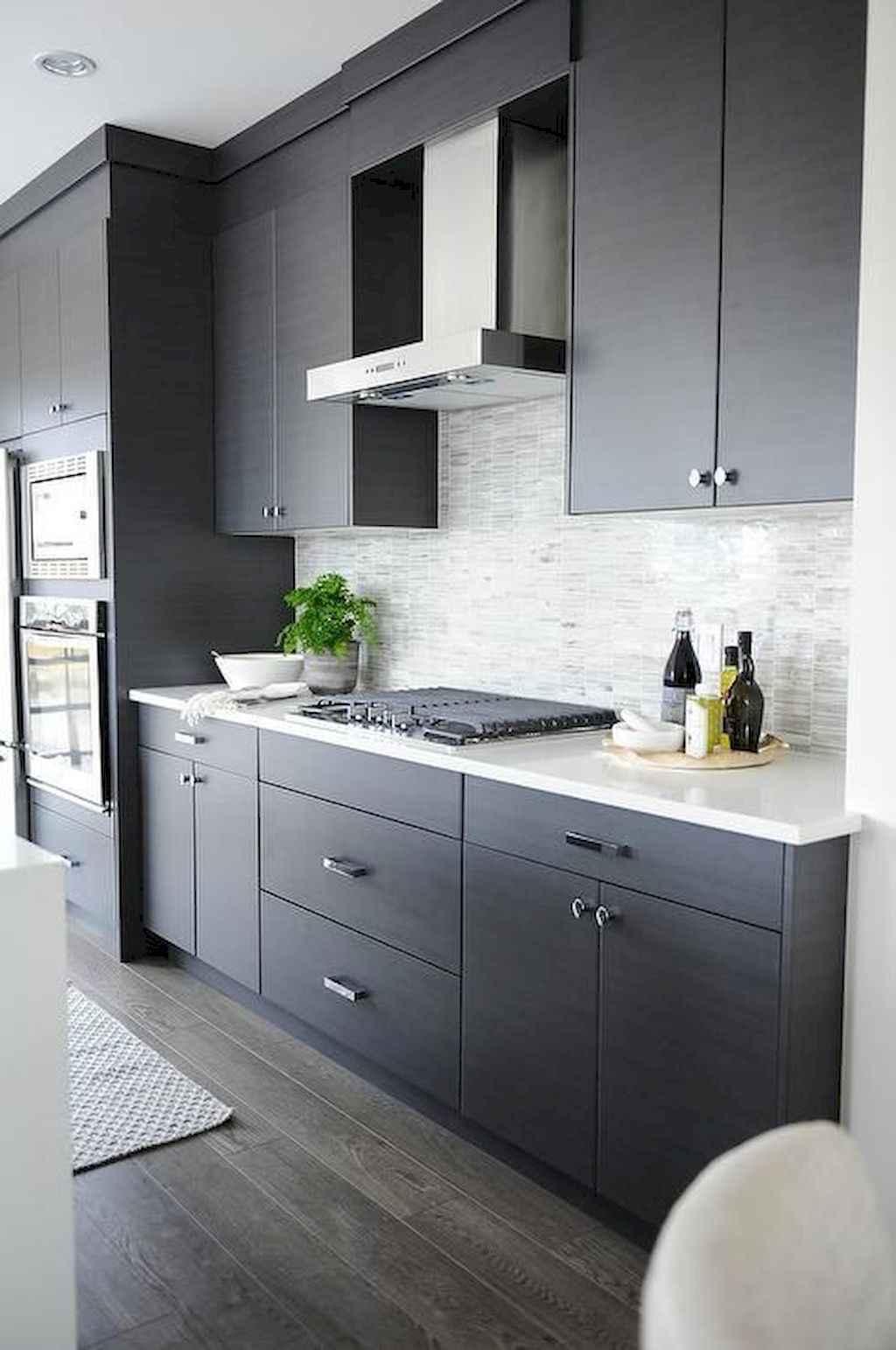 Gorgeous gray kitchen cabinet makeover ideas (18)