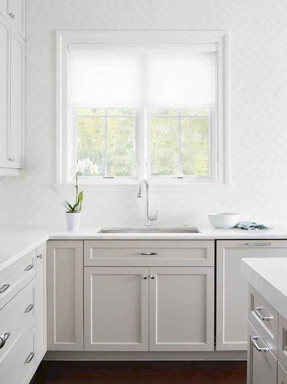 Gorgeous gray kitchen cabinet makeover ideas (19)