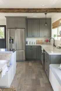 Gorgeous gray kitchen cabinet makeover ideas (21)