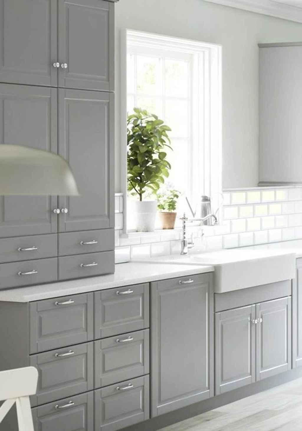 Gorgeous gray kitchen cabinet makeover ideas (25)