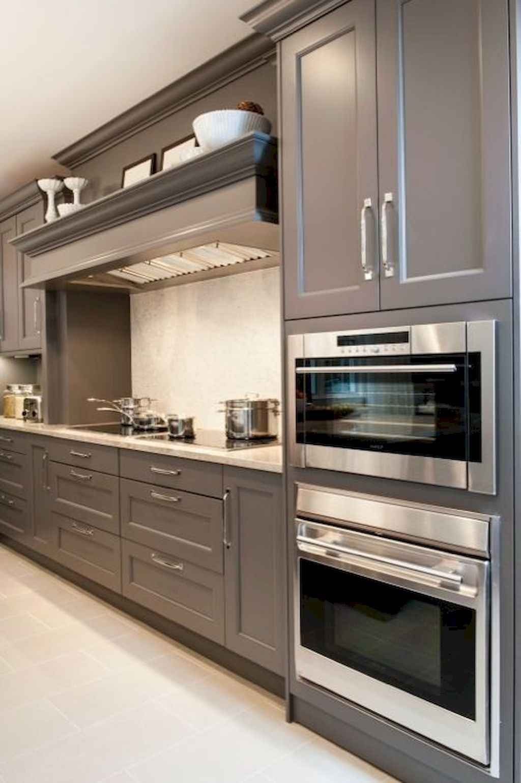 Gorgeous gray kitchen cabinet makeover ideas (28)