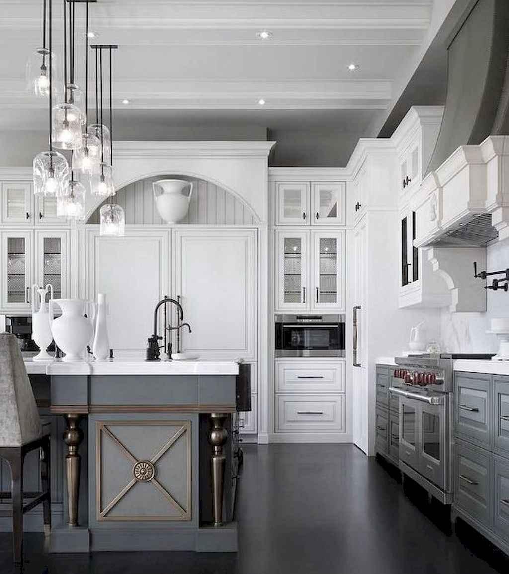 Gorgeous gray kitchen cabinet makeover ideas (31)
