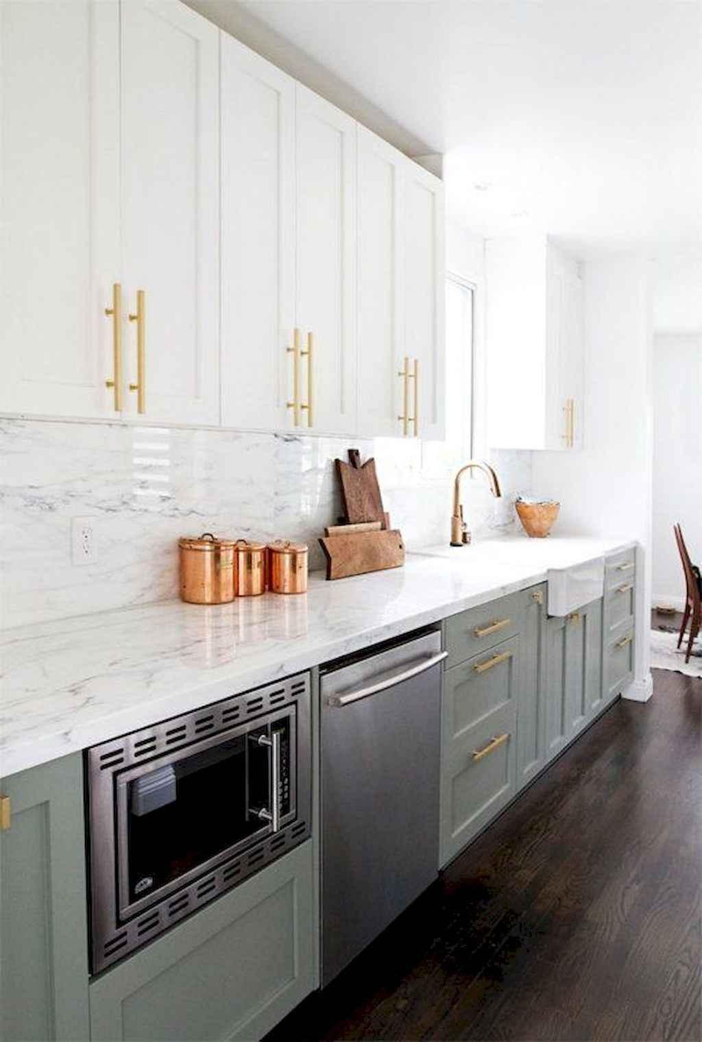 Gorgeous gray kitchen cabinet makeover ideas (32)