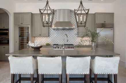 Gorgeous gray kitchen cabinet makeover ideas (38)