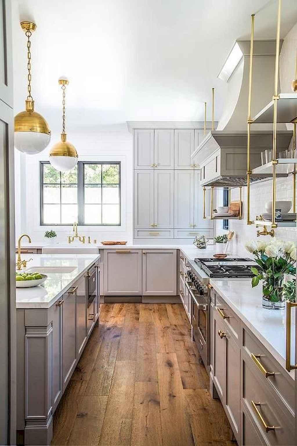 Gorgeous gray kitchen cabinet makeover ideas (39)