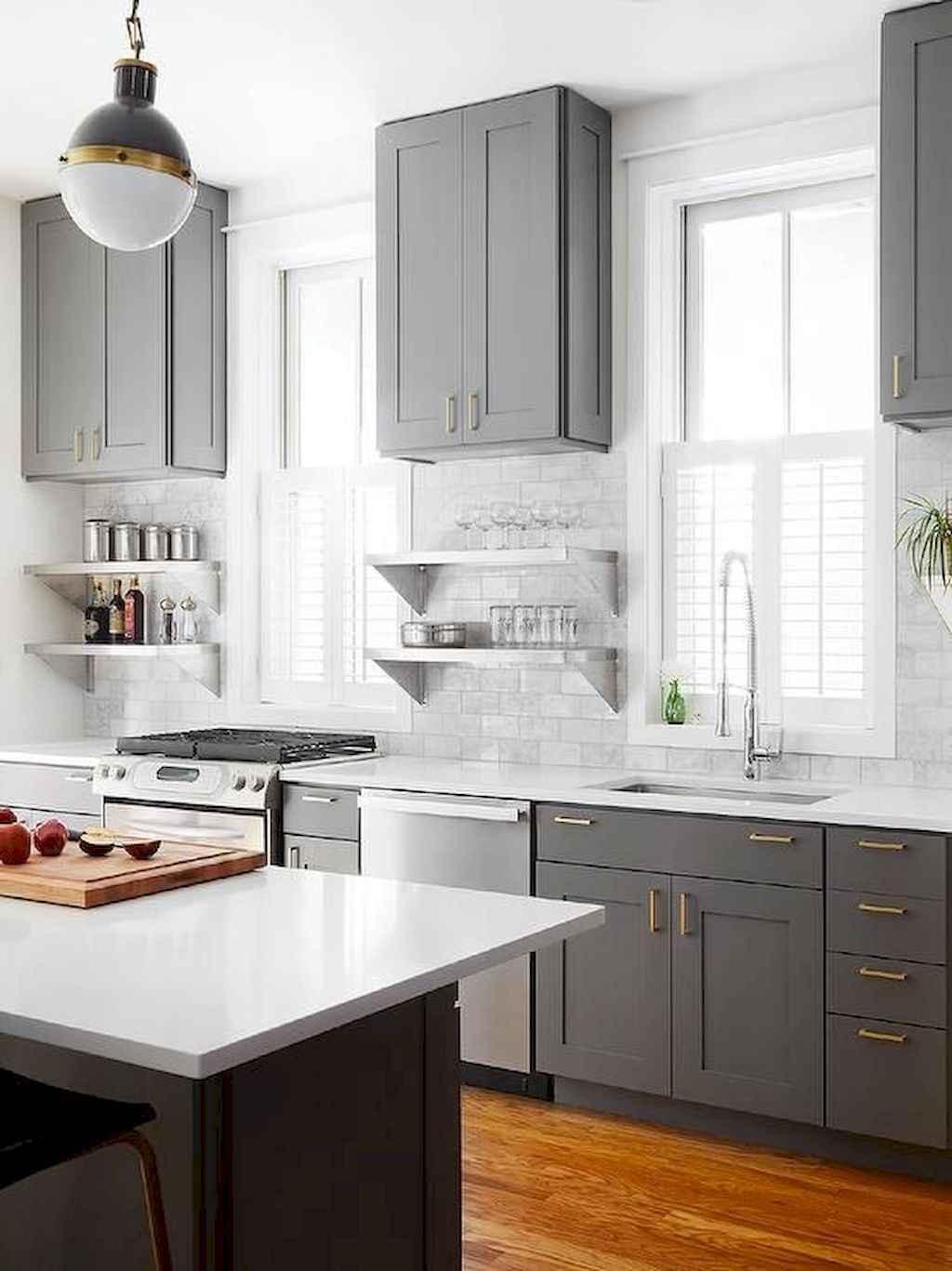 Gorgeous gray kitchen cabinet makeover ideas (43)