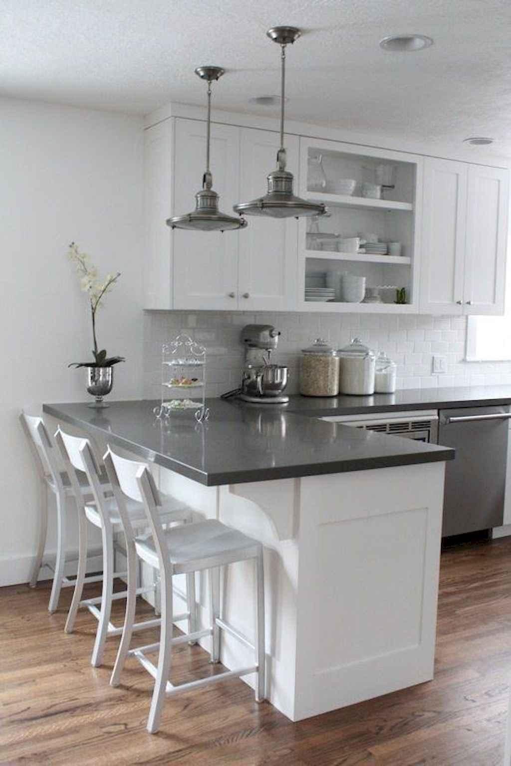 Gorgeous gray kitchen cabinet makeover ideas (47)