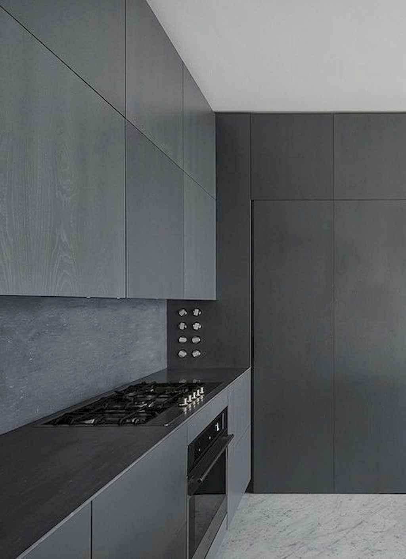 Gorgeous gray kitchen cabinet makeover ideas (51)